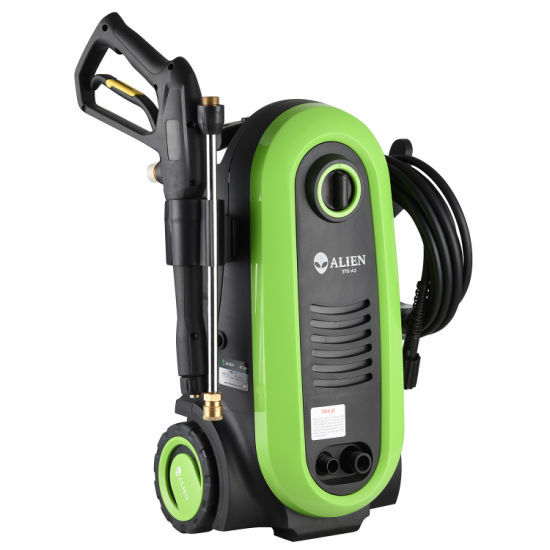 Green Color High Pressure Washer for Car with Pull Rod