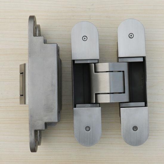 China 3 Dimension Adjusting Heavy Duty Hidden Door Hinges China Stainless Steel Concealed Hinge Sus 304 Stainless Steel Hinge