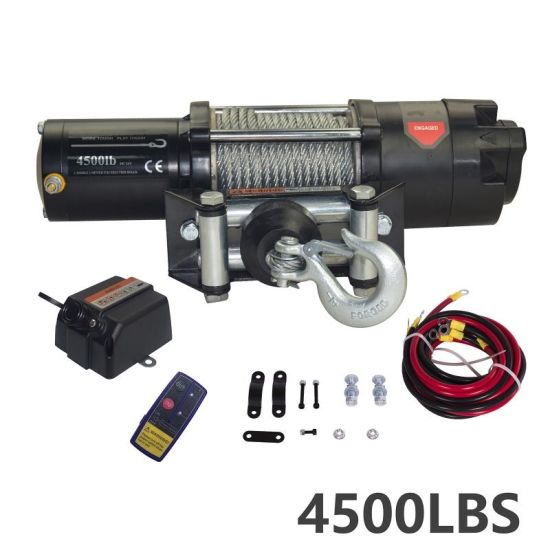 Powersports Winch 4500 Lbs with All Metal Gear End Housing