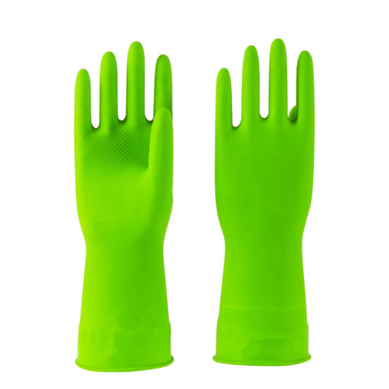 50g Green Waterproof Household Latex Rubber Work Gloves
