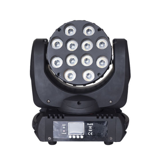 Full Color LED 12PCS*12W Mini Beam Moving Head Light pictures & photos