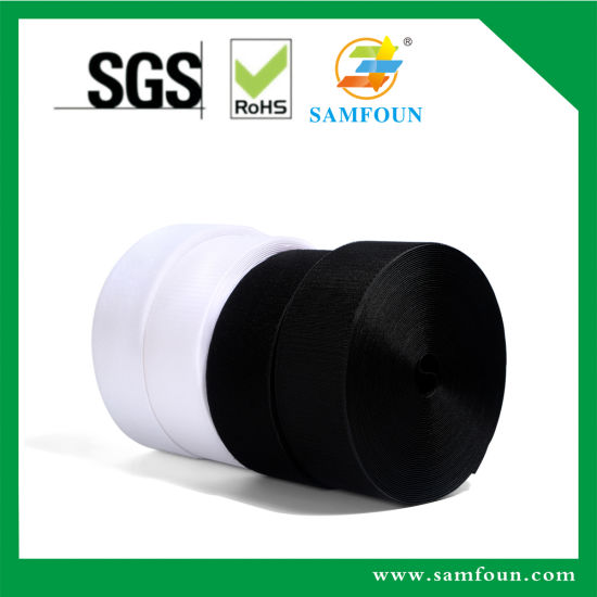 60% Nylon Tape Black/White Sew on Hook and Loop for Shoes