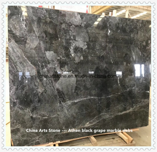 Athen Grape Black Marble Slab for Countertops, Tiles, and So on Building Products pictures & photos