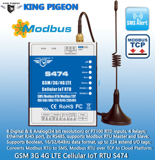 Industrial Cellular Module Remote Control Field Device S474