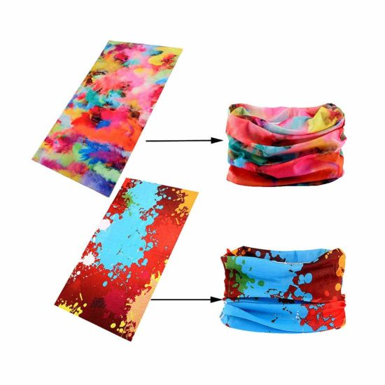 Wide Headbands Scarf Head Wrap Mask Neck Warmer