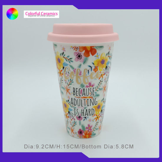 deb8a98b865 China Custom Ceramic Mug with Silicon Lid Tall Ceramic Coffee Mug ...