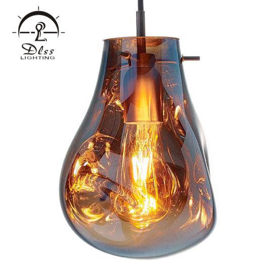 9208 Amber Glass Goure E27 Glass Single Wholesale Pendant Lights
