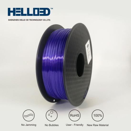 Shenzhen Factory Supply Silk Like 3D Filament PLA 1.75mm