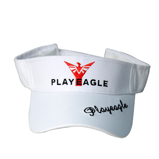 Manufacturer Black and White Color Sunscreen Golf Cap Visor Hat pictures & photos