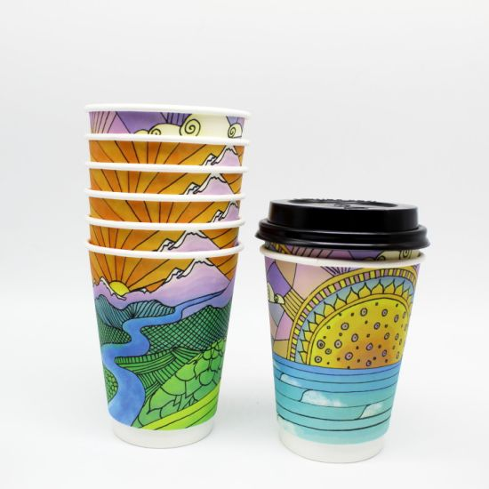 12oz Coffee Paper Cup Biodegradable Hot Cups pictures & photos