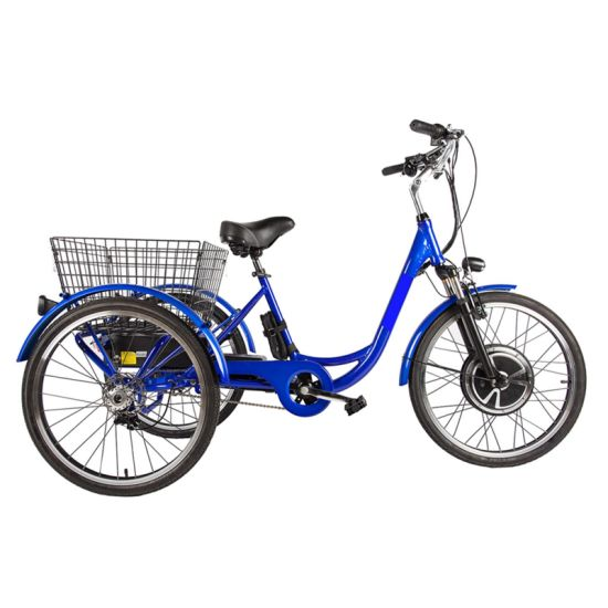 48V500W 3 Wheel Electric Bicycle with 24′′ Wheels for Adult pictures & photos