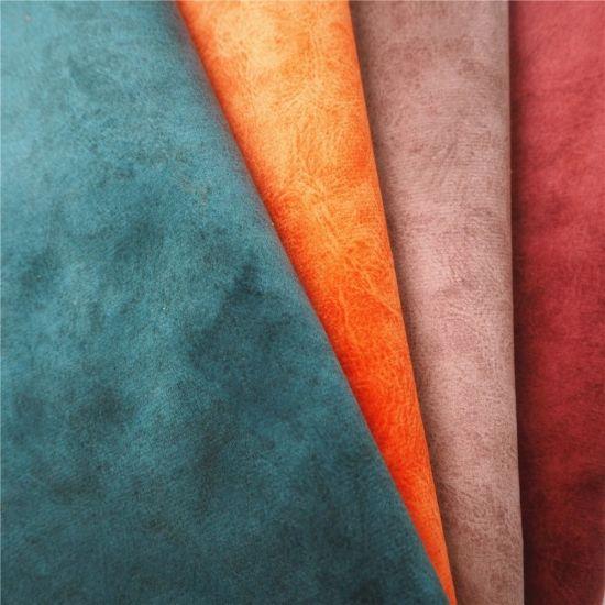 Custom Print Brushed Red Velvet Sofa Upholstery 100 Polyester Waterproof Velour Fabric
