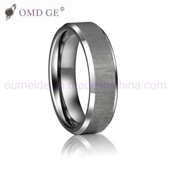 China Fashion Party Wedding Anniversary Engagement Tungsten Rings
