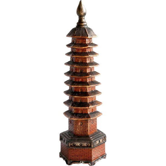 China Style Fengshui Table Decor Buddisim Poly Resin Buddha Tower Statue