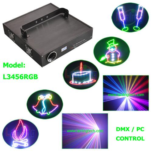 Full Color Animation Laser Light 3W RGB