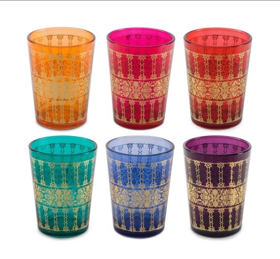 Coloured Glass Ethnic Print Tea Light Candle Holders pictures & photos