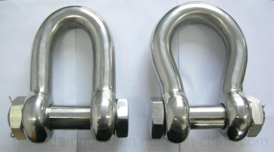Stainless Steel Us Type Bow Shackle of Rigging Hardware pictures & photos