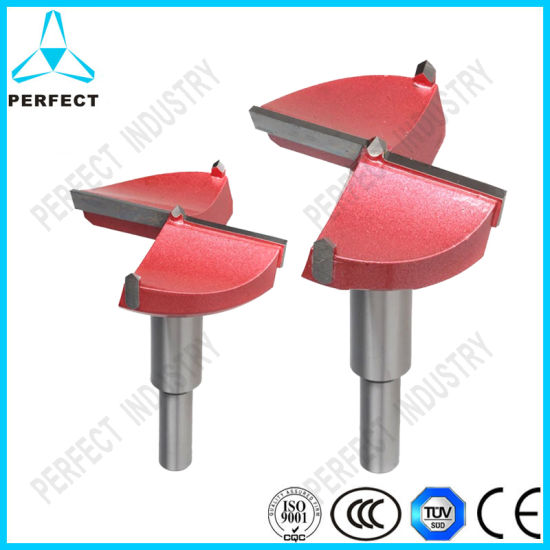 Forstner Wood Boring Drill Bit 60mm Dia Hole Saw Carbide Tip Round Shank Tool