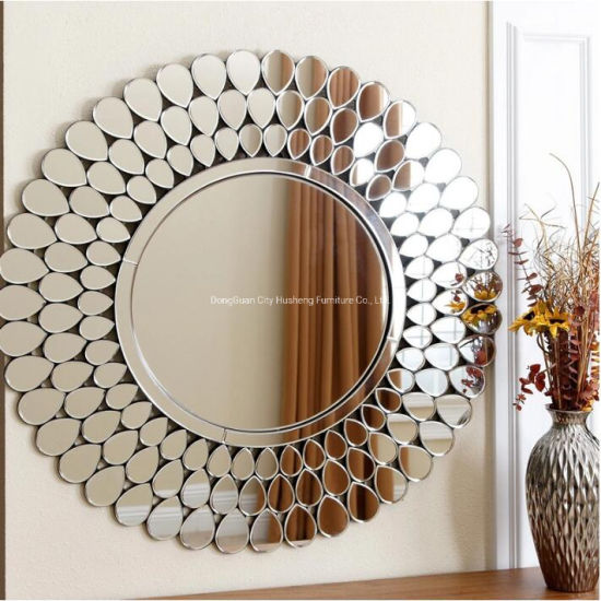 Round Sliver Art Mirror Wall Decorative Mirror For Living Room China Furniture Wall Mirror Made In China Com