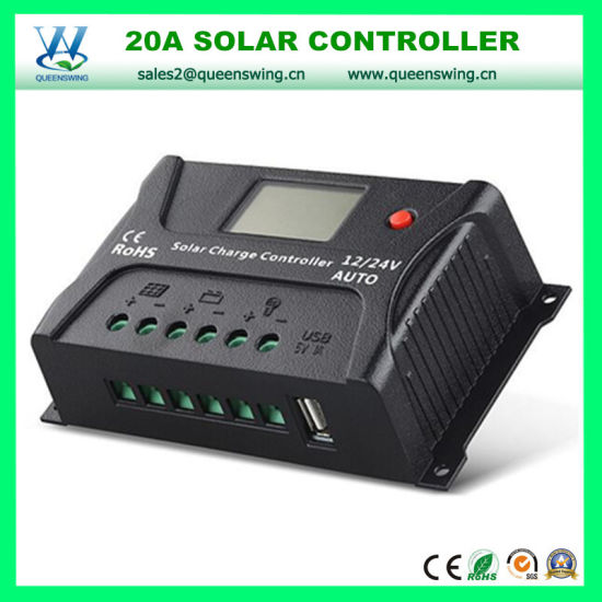 12V/24V 20A LCD Solar Power System Controller with USB (QWP-SR-HP2420A) pictures & photos