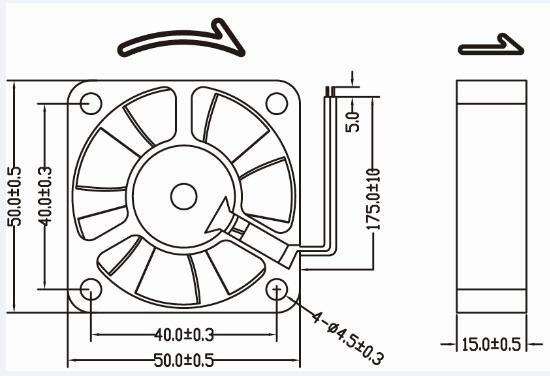 China 50x50x15 50mm 5015 5v 12v Brushless Dc Fan China