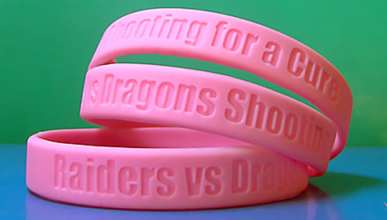Personalized High Quality Logo Debossed Silicone Rubber Bracelet