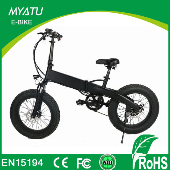 20inch Factory 250W Alloy Mini Folding Electric Vehicle Fat pictures & photos