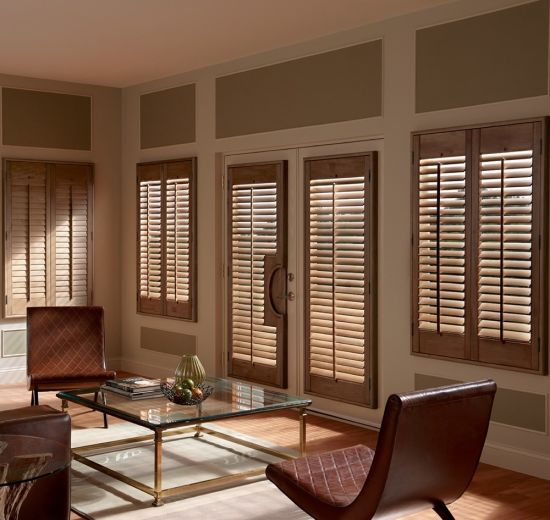 Internal Plantation Living Room Wooden Shutter