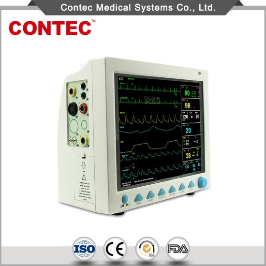 "China Manufacturer 12.1"" Portable Multi-Parameter Patient Monitor pictures & photos"