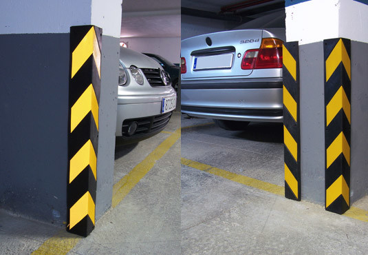 Reflective Industrial Rubber Wall Corner Safety Guard for Parking Lots (CC-C03) pictures & photos