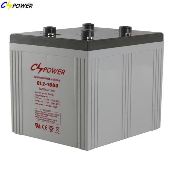 High Quality Deep Cycle VRLA Battery for Emergency Power 2V1500ah