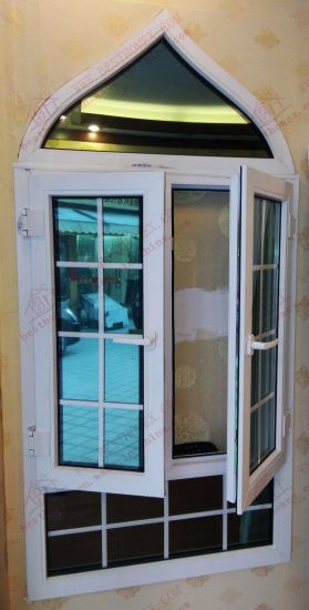 High Quality UPVC Casement Arch Window (BHP-CWA11) pictures & photos