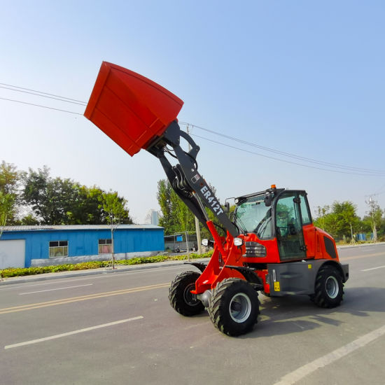 Everun New Er412t 1.2ton Compact Front Diesel Engine Articulated Transmission Small Construction Equipment Machinery Mini Wheel Loader for Sale China Suppliers