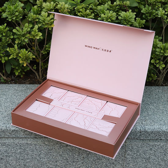 Firstsail New Design Luxury Pink Paper Cardboard Food Cookie Packaging Moon Cake Gift Folding Box