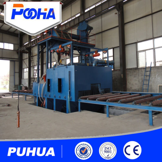 Q69 Wheel Roller Shot Blasting Machine for Frame Structure Descaling pictures & photos
