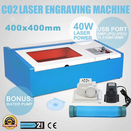 400X400mm CO2 Mini CNC Laser Cutter for Rubber Acrylic Paper pictures & photos