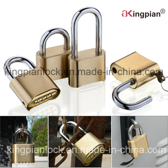 50mm 4 Digital Bottom Code Resettable Combination Lock pictures & photos