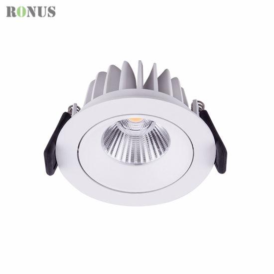 Chinese Factory Aluminium IP44 LED Spotlight 10W Spot Lighting Commercial Ceiling Down Light COB Lamp Bulb Downlight