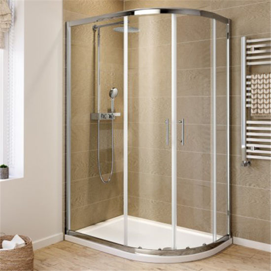 China 304 Stainless Steel Frame Double Wheel Rollers Shower Cabin ...