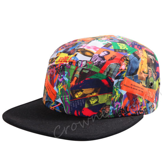 Promotional Snapback Flat Brim Custom Polyester Sports Cap/Hat pictures & photos