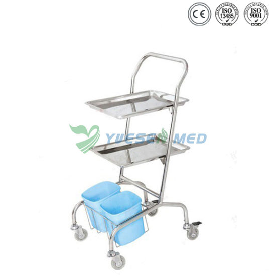 Veterinary Clinic 304 Stainless Steel Surgical Instrument Trolley pictures & photos