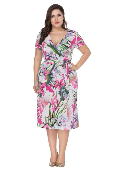 1bc841525d6e5 Retro Style Short Sleeve Dress Vintage Red Ball Gown Skulls Flowers Print  50s 60s Pin up Evening Party Large Size Clothing for Women. Get Latest Price