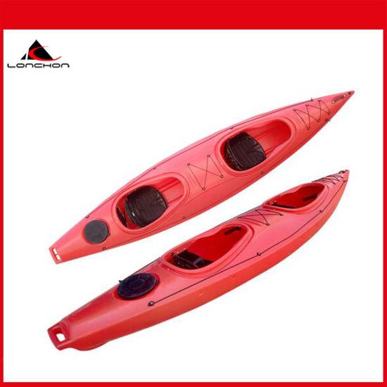 13FT 2+1 Sit in Ocean Canoe Kayak with Folding Plastic Seat