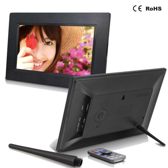Touch LCD Screen 1024*600 10.1 Inch HD Digital Photo Frame pictures & photos