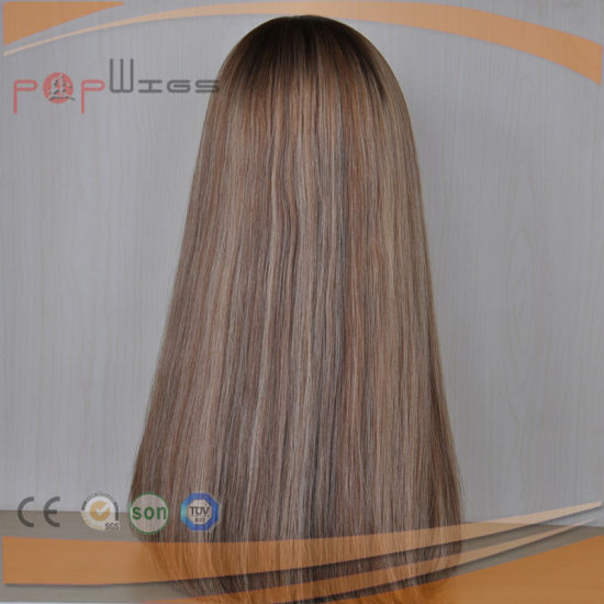 Full Blonde Hair Silk Top Hair Piece Topper (PPG-l-01857) pictures & photos