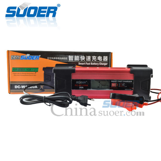 China Suoer 20a 12 Volt Intelligent Lead Acid Car Battery Charger