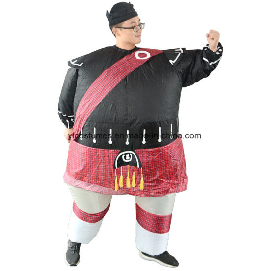 China Halloween Party Supply Funny Adult Inflatable Knight Costume