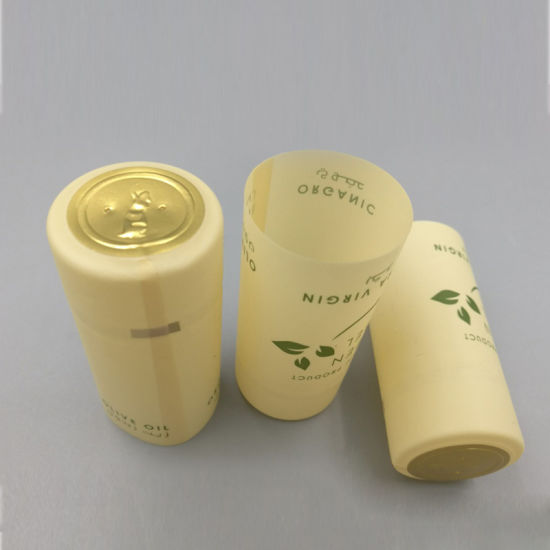 Customized PVC Shrink Capsules with Tear Strip