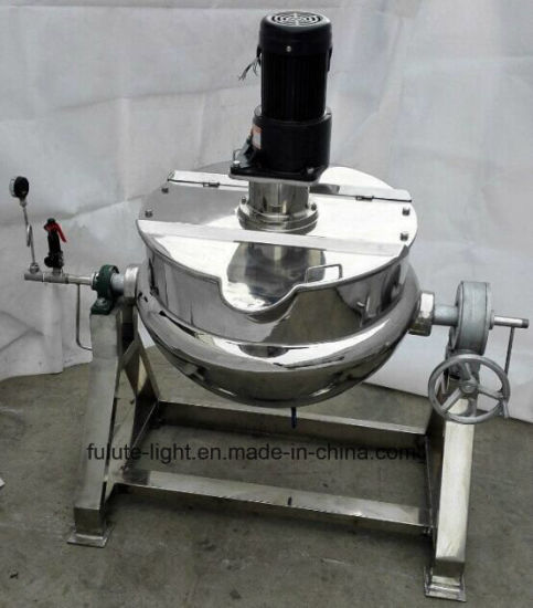 Industrial Stainless Steel Steam Cooked Jacket Kettle