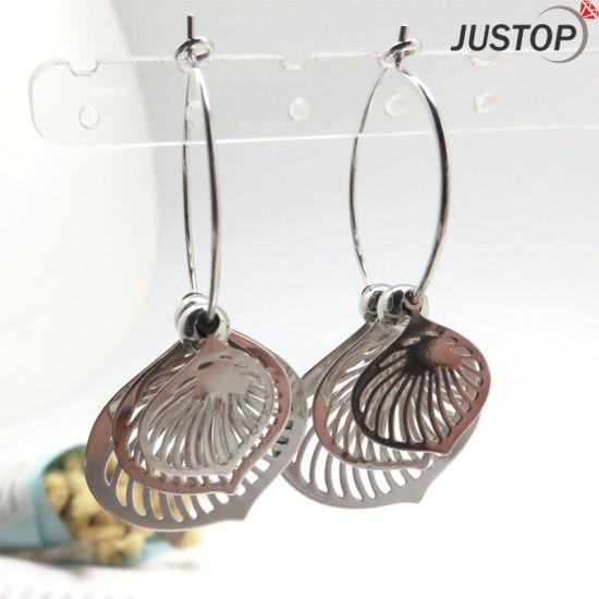 Costume Jewelry Designer Silver Hoop Women Fashion Earrings